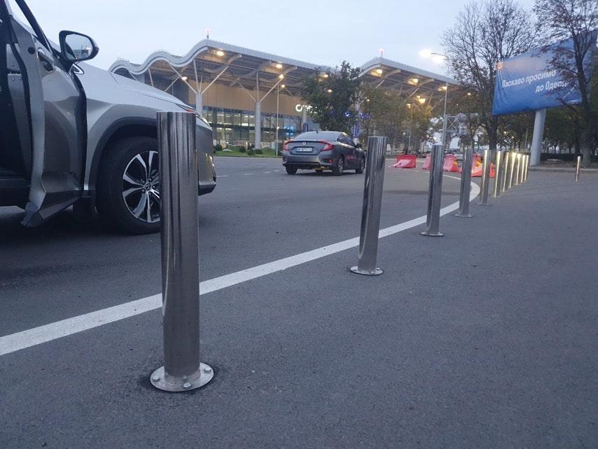 Парковочные столбики из нержавеющей стали